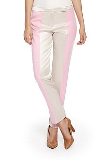'Harilies' | Stretch-Cotton Colorblock Dress Pants