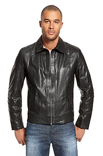 'Garrin' | Leather Perforated Jacket