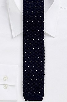 '5 cm Tie' | Extra Skinny, Cotton Knit Polka Dot