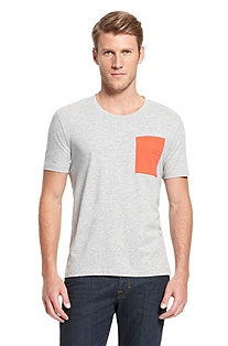 'Deymore' | Cotton Contrast Pocket T-Shirt