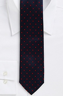 '7.5 cm Tie' | Slim, Silk Diamond Print