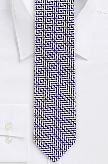 '7.5 cm Tie' | Slim, Silk Check Print