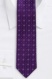 '7.5 cm Tie' | Slim, Silk Flower Print