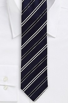 '7.5 cm Tie' | Slim, Silk Diagonal Stripe