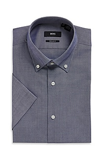 'Edke' | Regular Fit, Button-Down Collar Cotton Dress Shirt