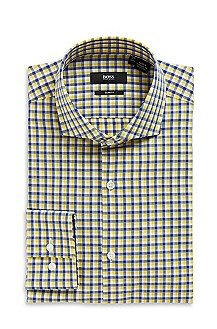 'Jason' | Slim Fit, Spread Collar Cotton Dress Shirt