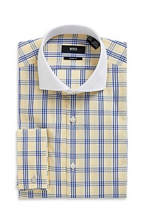 'Maccoy US' | Sharp Fit, Extreme Spread Collar Cotton Dress Shirt