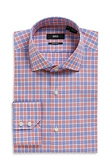 'Gordon' | Classic Fit, Spread Collar Cotton Dress Shirt
