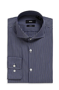 'Jason' | Slim Fit, Spread Collar Cotton-Blend Dress Shirt
