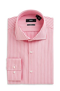 'Jaron' | Slim Fit, Spread Collar Cotton Dress Shirt