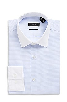 'Jonne ' | Slim Fit, Medium Point Collar Cotton Dress Shirt