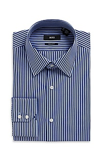 'Enzo' | Regular Fit, Kent Collar Cotton Dress Shirt