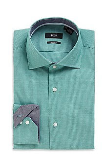 'Eraldin' | Classic Fit, Spread Collar Cotton Dress Shirt