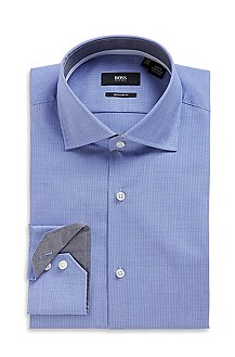 'Eraldin' | Regular Fit, Spread Collar Cotton Dress Shirt