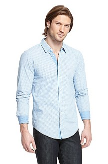 'Cliff' | Slim Fit, Cotton Casual Shirt