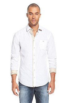 'EslimE' | Slim Fit, Cotton Casual Shirt