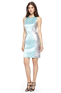 'Kevana' | Metallic Two-Tone Sheath Dress