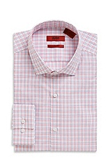 'Easton X' | Slim Fit, Cotton Check Print Dress Shirt