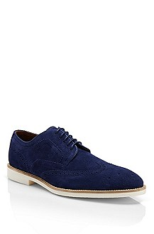 'Cortios' | Suede Oxford Shoe with Broguing