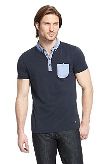 'Patchaman' | Slim Fit, Cotton-Blend Jersey Polo Shirt