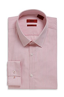 'Everett X' | Slim Fit, Striped Cotton Dress Shirt