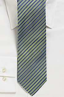 '7.5 cm Tie' | Slim, Silk Alternating Stripe