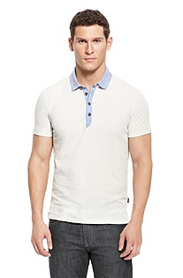 'Salino' | Slim Fit, Cotton-Blend Polo Shirt