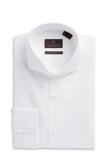 'Christo ' | Shaped Fit, Extreme Spread Collar Cotton Dress Shirt