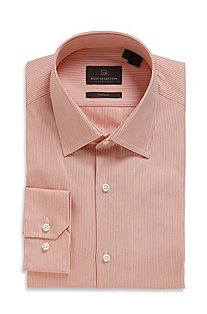 'Thob' | Modern Fit, Modified Point Collar Cotton Dress Shirt