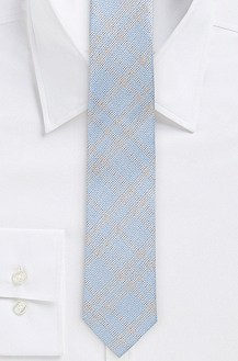 '6 cm Tie' | Skinny, Silk Faint Plaid Print