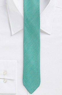 '6 cm Tie' | Skinny, Silk-Cotton Mini Polka Dot Print