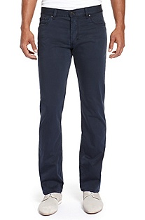 'HUGO 677/8 ' | Slim Fit, Straight Leg Stretch Cotton Jeans