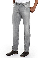 'Hugo 677/8' | Slim Fit, Straight Leg Stretch Cotton Jeans