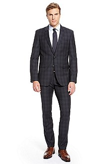 'Ryan/Win' | Extra Slim Fit, Virgin Wool Plaid Suit