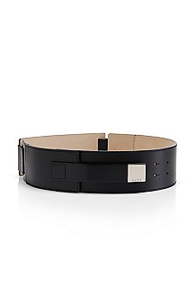 Leanna' | Wide Leather Belt
