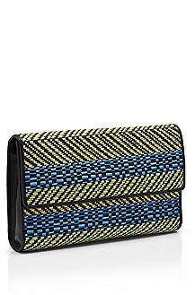 'Tammi' | Woven Leather Clutch