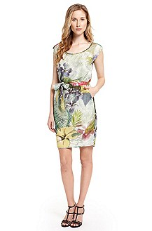 'Akasusa-W' | Cotton-Silk Floral Dress