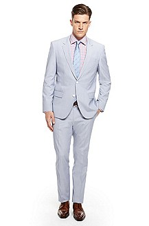 'Huge/Genius' | Slim Fit, Stretch Cotton Suit
