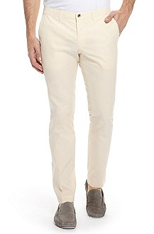 'Wing1-W' | Extra Slim Fit, Cotton-Blend Casual Pants