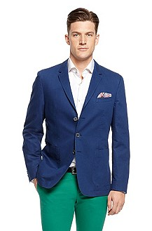 'Matteo' | Slim Fit, Cotton-Linen Sport Coat
