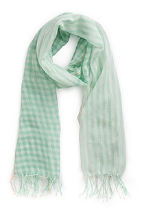 'Nart' | Cotton Mixed-Print Scarf