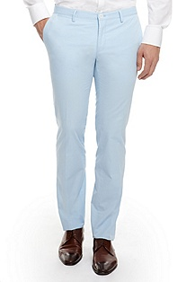 'Stanino' | Slim Fit, Cotton Dress Pants