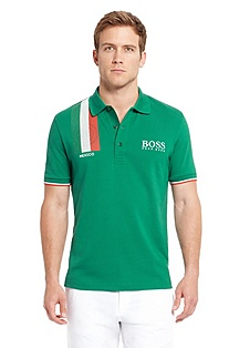 'Paddy Flag' | Modern Fit, Cotton Polo Shirt
