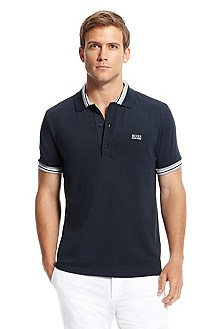'Paule' | Slim Fit, Stretch Cotton-Blend Polo Shirt