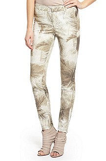 'Sonela' | Skinny Fit, Stretch Cotton Printed Pants