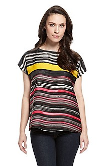 'Dovisa' | Striped Jersey Top