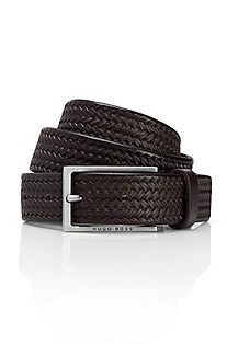 'Cersten' | Skinny Braided Leather Belt