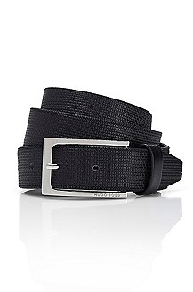 'Coriolo' | Skinny Textured Leather Belt