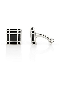 'Henriko' | Brass and Enamel Cufflink