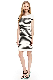 'Soliviana' | Cotton Stripe Belted Dress